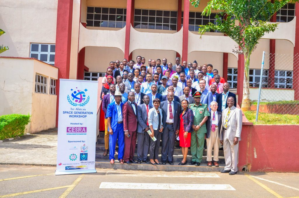 Delegates at the Space Generation Workshop, Nigeria 2017