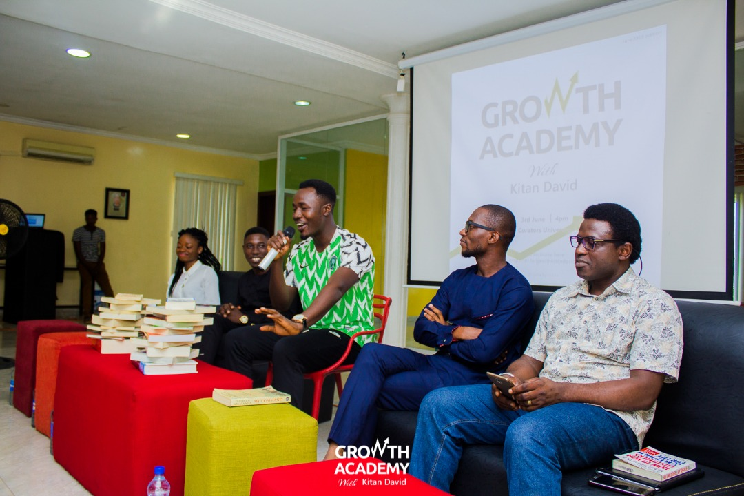 """Kitan David sharing thoughts from """"There was a Country"""" by Chinua Achebe"""
