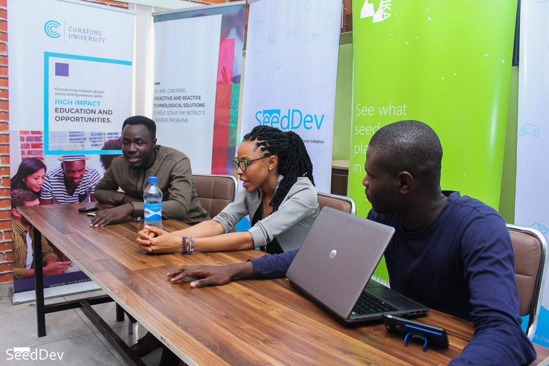 Kitan David (Chairman SeedDev), Nkem Ijere (Project Manager, BeMORE) & Opeyemi Olugbemiro (L-R)