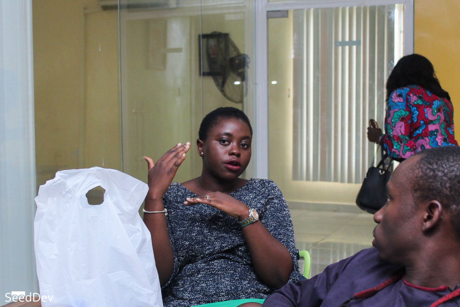 Oladiwura Oladepo (COO, Prunedge) at the SeedDev Round-table held in Akure